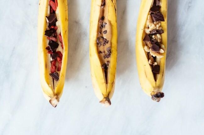 Polnjene banane.